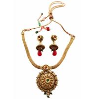 Beautiful Wedding Gift of Golden Necklace Set