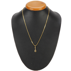 Tantalizing American Diamond Studded Gold Pendant from Anjali (22K)