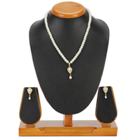 Designer Pearl Set with Necklace & Earrings