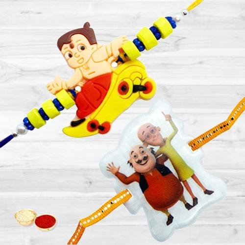 Attractive Two Rakhis for Children with Amazing Designs<br>