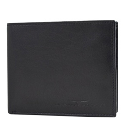 Alluring Urban Forest Pure Leather Gents Wallet in Black