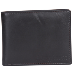 Classic Leather Gents Wallet in Black Presented by Longhorn