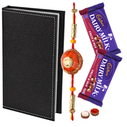 Classy Looking Pure Leather  Visiting Card Holder with Chocolates