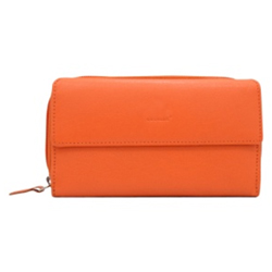 Chic Ladies Wallet in Orange Colour Made of Genuine Leather from Urban Forest