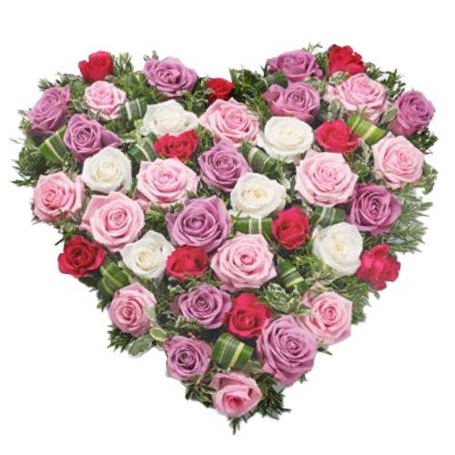 <u><font color=#008000> MidNight Delivery : </FONT></u>:Multi Coloured Heart Shaped Arrangements
