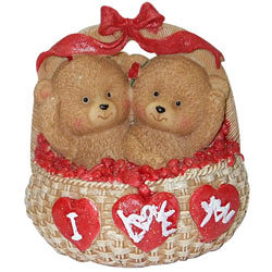 Dazzling Twin Teddy with Spirit of Love