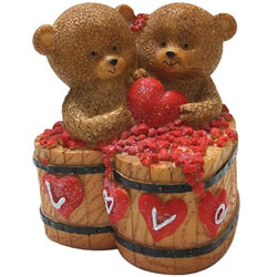 Romantic Couple Teddy with a Heart