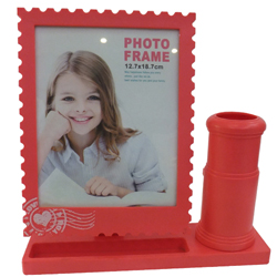 Matched Pair of Photo Frame and Pen Stand