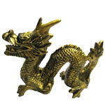 Opulent Golden Feng-Shui Cure Dragon