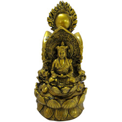 Regal Bronze Buddha Amulet