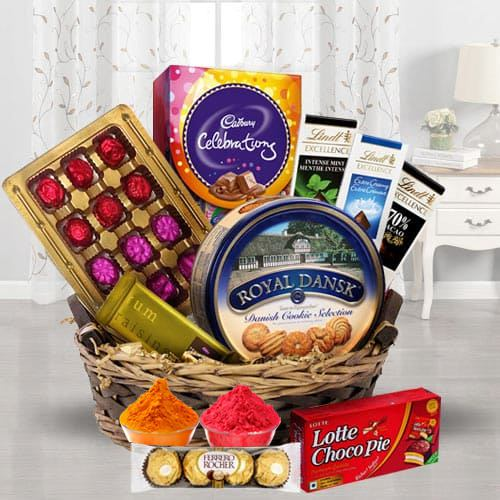 Festival Basket Full of Chocolates