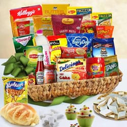 Beautiful Breakfast Gourmet Vacation Gift Basket