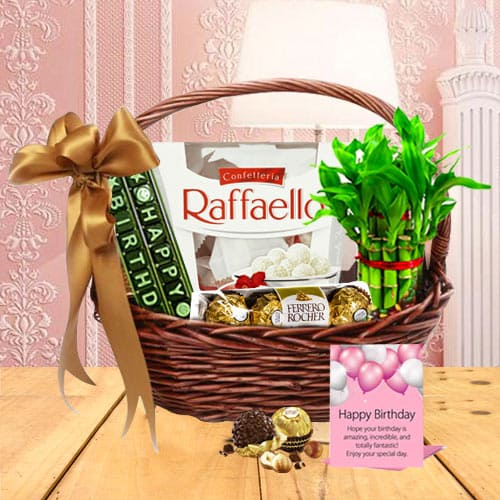 Lovely Gift Basket for Birthday Celebration<br>