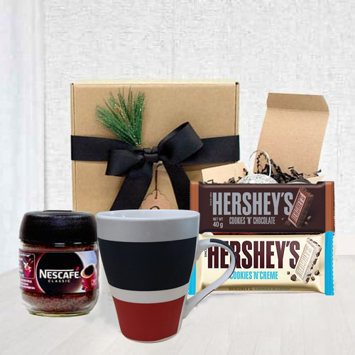Delicious Coffee Lover Dads Gift Basket<br>
