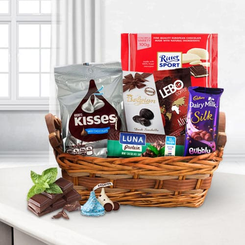Tempting Chocolate Assortments Gift Basket<br>