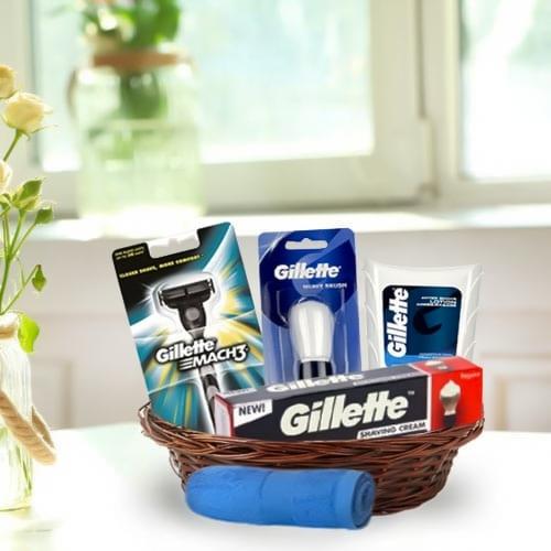 Smart Looking Shave Kit Gift Basket for Gents<br>
