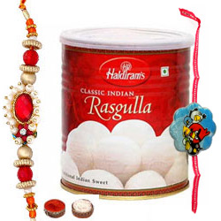 Amazing Combo of Rakhi with Rasgulla