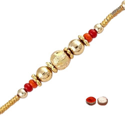 Beautiful 1 Rakhi with Small Beads