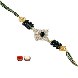 Dashing One Stone n Beads Rakhi