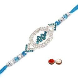 Trendsetting One Round Center Stones Rakhi