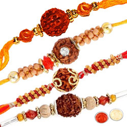 Set of Four Rakhi