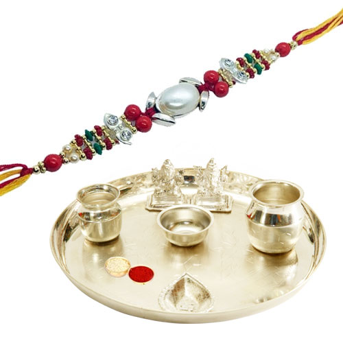 Amazing Silver Plated Pooja Thali on Raksha Bandhan