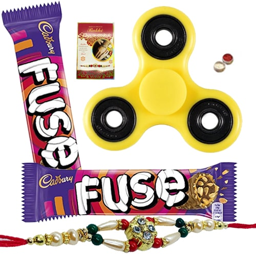 Winsome Fidget with Cadbury Chocolate and Rakhi Array
