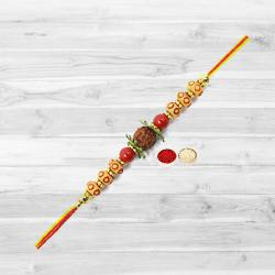 Classic Rudraksha Rakhi with Endless Love