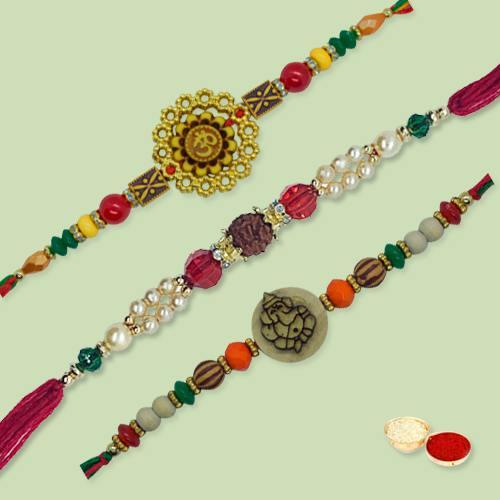 Breathtaking Ethnic Rakhi Thread with Love