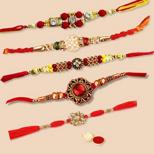 Trendsetting Wrist Band of Regular Rakhi Set