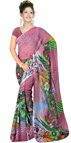 Impressive Suredeal Georgette Fabric Saree for Someone Special