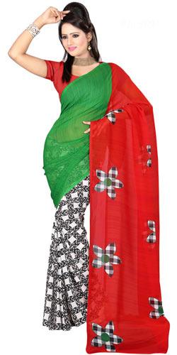 Splendid Faux Gorgette Printed Saree