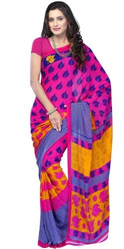 Colorful Mellowness Mix Material Saree