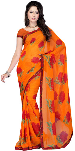 Exciting Pep Georgette Saree
