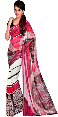 Appealing Refinement Dani Georgette Saree