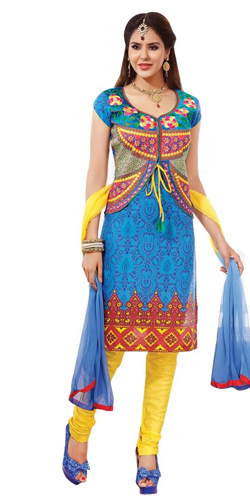 Dazzling Multicoloured Pure Cotton Printed Salwar Suit