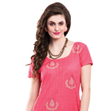Dazzling Pink Colored Chiffon Embroidered Salwar Kameez
