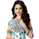 Trendsetting Women Printed Cotton Multicolour Suit by Suredael