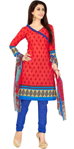 Dazzling Welcome Branded Cotton N Chiffon Printed Salwar Suit