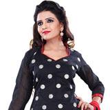 Glamorous Black Printed Cotton Fashionable Salwar