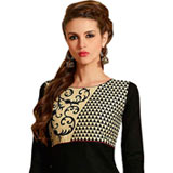 Magnificent Women's Black Cotton Printed Suit