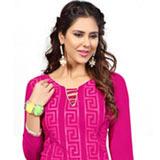 Trendy Chanderi Dress Material