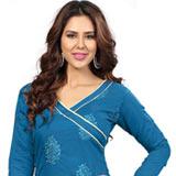 Peachy Effulgence Santoon Silk Salwar Suit