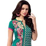 Pretty Printed Chanderi Salwar Suit