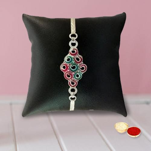 Trendy Silver Rakhi