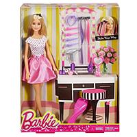 Impressive Set of Barbie Doll Hair N Make-Up Accessories