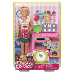 Marvelous Barbie Bakery Chef Doll Playset
