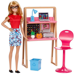 Amazing Kids Fantasy Barbie Doll Home N Office Playset