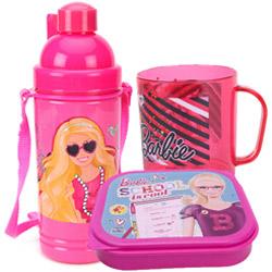 Designer Kids Special Barbie Designed Tiffin Set