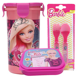 Outstanding Off to School Barbie Design Tiffin Set